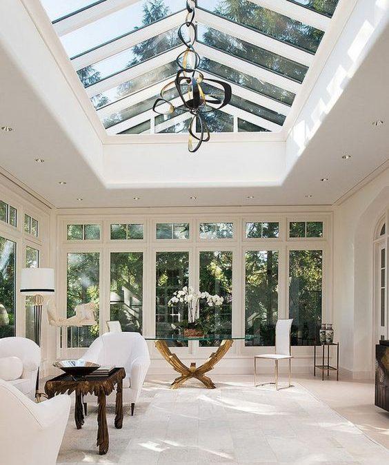 Veranda vitrata inchisa cu geam termopan